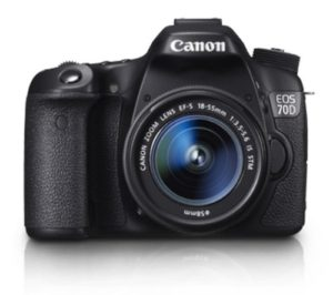 Canon EOS 70D 20.2MP Digital SLR Camera (Black) with EF-S 18-55mm IS STM Kit Lens