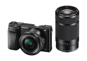 Sony Alpha A6000Y 24.3MP Digital SLR Camera (Black) with 16-50 & 55-210mm Lens