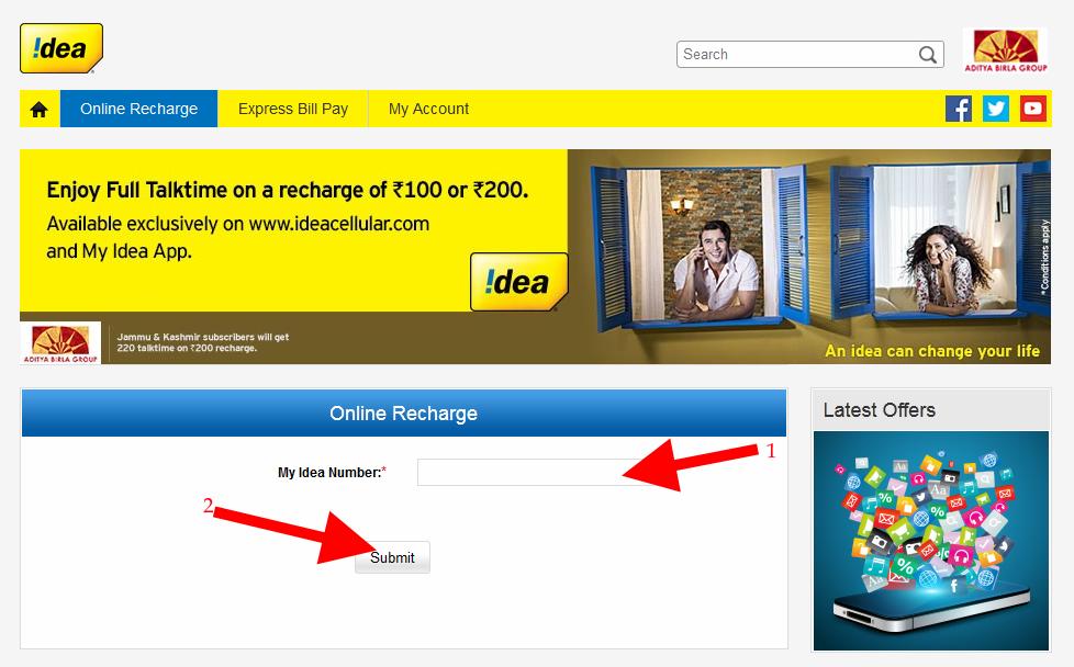 Idea Online Recahrge