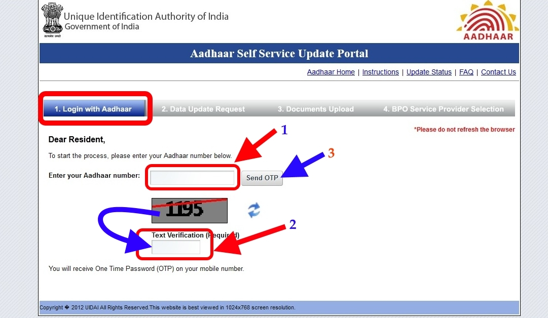 Aadhaar card update