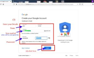 how to setup or create gmail account on my computer