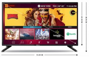 Kodak 32HDXSMART Pro [32 inches] Smart TV-best tv under 15000