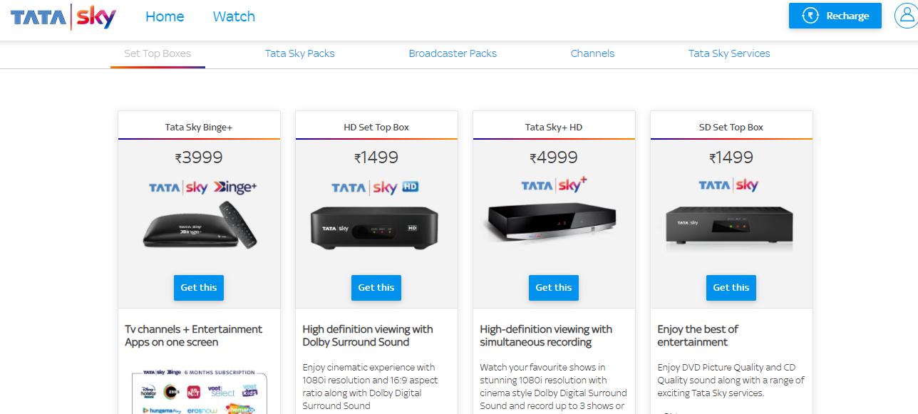 Tata Sky-Recharging tata sky-tata sky login-Best DTH Service Providers in India